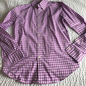 Ralph Lauren womens slim fit purple shirt 6 polo